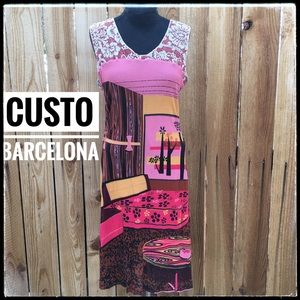 Custo Barcelona Tank Midi Dress. Size 4